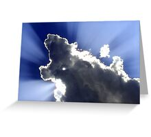 Rays of blue and white Greeting Card