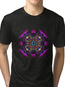 Bright abstract figure with colours and rocks Tri-blend T-Shirt