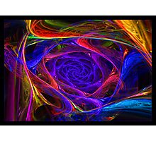 """Psychedelic Spirals"" - Fractal Art Photographic Print"