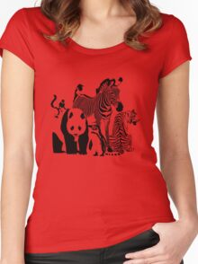 Spots and Stripes Women's Fitted Scoop T-Shirt