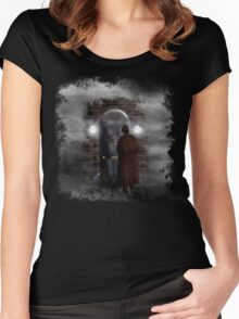 Haunted house Baker street 221b Women's Fitted Scoop T-Shirt