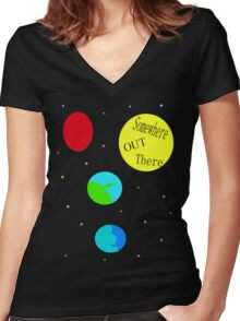 In a childs imagination. Women's Fitted V-Neck T-Shirt
