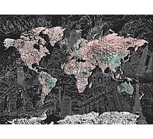 World Map antique Photographic Print