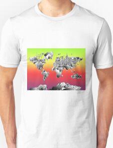 World Map landmarks 4 T-Shirt