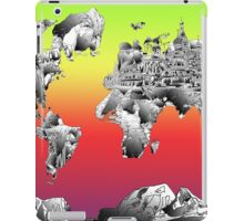 World Map landmarks 4 iPad Case/Skin