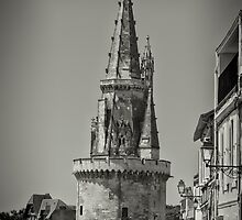 Tour de la Lanterne (Medieval Lighthouse) at La Rochelle, France #2 by Elaine Teague