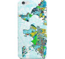 World Map landmarks 5 iPhone Case/Skin