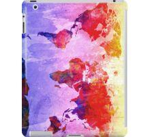 World Map watercolor 2 iPad Case/Skin