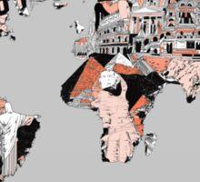 World Map landmarks 6 Sticker