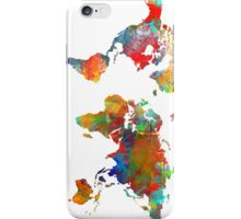World Map watercolor 4 iPhone Case/Skin