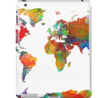 World Map watercolor 4 iPad Case/Skin