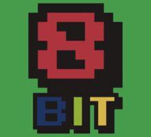8 Bit Retro logo Kids Clothes