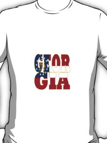 Georgia State Flag Typography T-Shirt