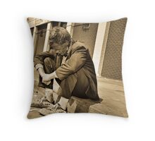 """ Down but not out "" Throw Pillow"