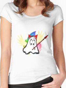 funny ghost  Women's Fitted Scoop T-Shirt