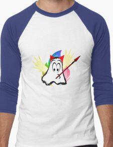 funny ghost  Men's Baseball ¾ T-Shirt