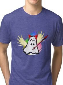funny ghost  Tri-blend T-Shirt