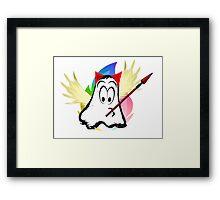 funny ghost  Framed Print