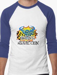 racing addiction  Men's Baseball ¾ T-Shirt
