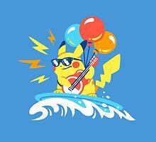 Surfin' Flyin' Rockin' Pikachu by Versiris