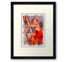 Pin Up 8 by Frank Falcon Framed Print