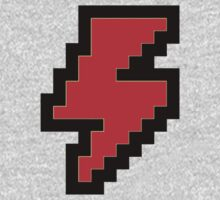 Funny 8 bit RED Lightning Bolt Kids Clothes