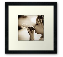 bubbles on birthday Framed Print