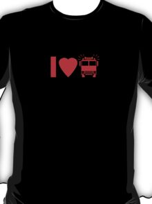 Kids T-Shirt I love Fire Engine Trucks T-Shirt