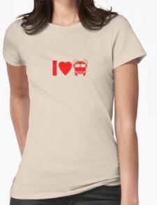 Kids T-Shirt I love Fire Engine Trucks Womens T-Shirt