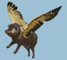 Pigs Can Fly (bronze version) Baby Tee