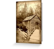 Ole Grist Mill Greeting Card