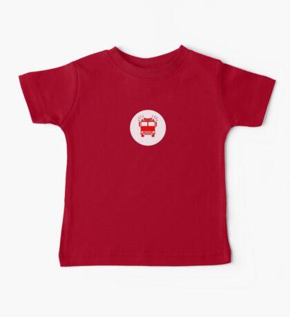 Sam, John, Sarah - Fireman's T-Shirt - Fire Truck Sticker Baby Tee