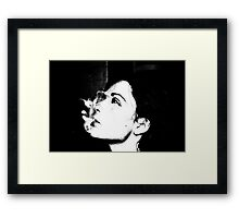 smokey self portrait Framed Print