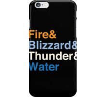 Final Fantasy Basic Black Magic, Helvetica iPhone Case/Skin