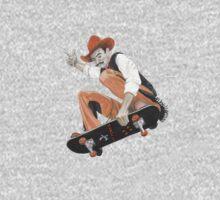 Pistol Pete Riding a Skateboard Kids Tee