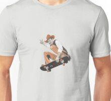 Pistol Pete Riding a Skateboard Unisex T-Shirt