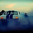 Mustang burn out by Greg Carrick