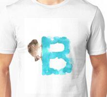 Sparrow watercolor alphabet painting Unisex T-Shirt