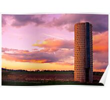 Silo Country Sunset Poster