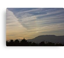 Sunset and office towers Canvas Print