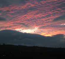 Dawn over slumbering Ambleside, Lake District by Louise Brookes