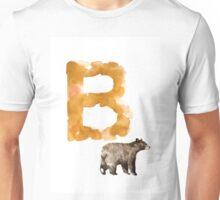 Watercolor alphabet bear poster Unisex T-Shirt