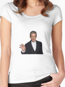 Doctor Who - Listen (Peter Capaldi) Women's Fitted Scoop T-Shirt