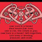 Celtic Heart Verse Card by Rustyoldtown