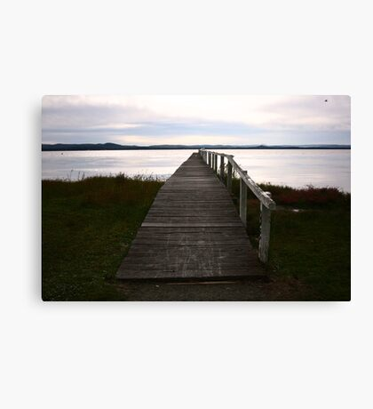 Nostalgic Boardwalk Canvas Print