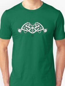 Celtic Triple Heart (white) Unisex T-Shirt