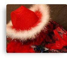 Red Hat & Shawl Canvas Print