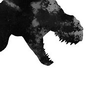 T rex abstract poster by Joanna Szmerdt