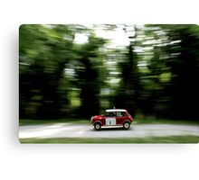 Mini Cooper S Print - Classic Rally Car  Canvas Print