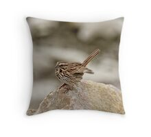 Some Ruffled Feathers Throw Pillow